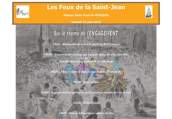 Affiche Feux de la Saint-Jean 2012.