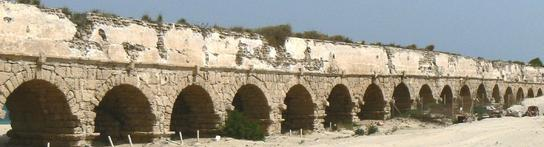 Aqueduc romain, à Césarée - Marc