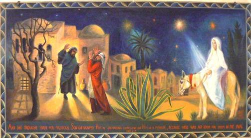 Accueil, maison  St Joseph à Bethléem, ensemble pastoral créé par le patriarcat catholique syrien d'Antioche, en 1970)