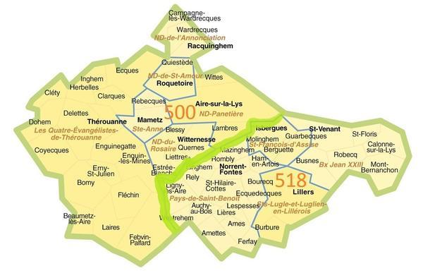 carte REM Pays de la Lys