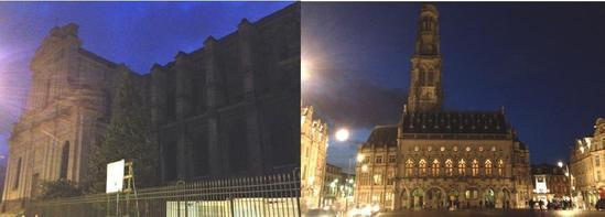 La Cathédrale et le Beffroi d'Arras plongés dans le noir - 8 janvier 2015