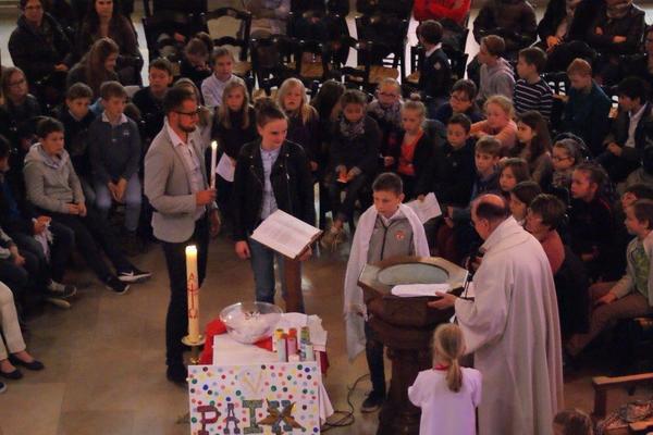 Célébration des Rameaux Ecole StPaul StJoseph