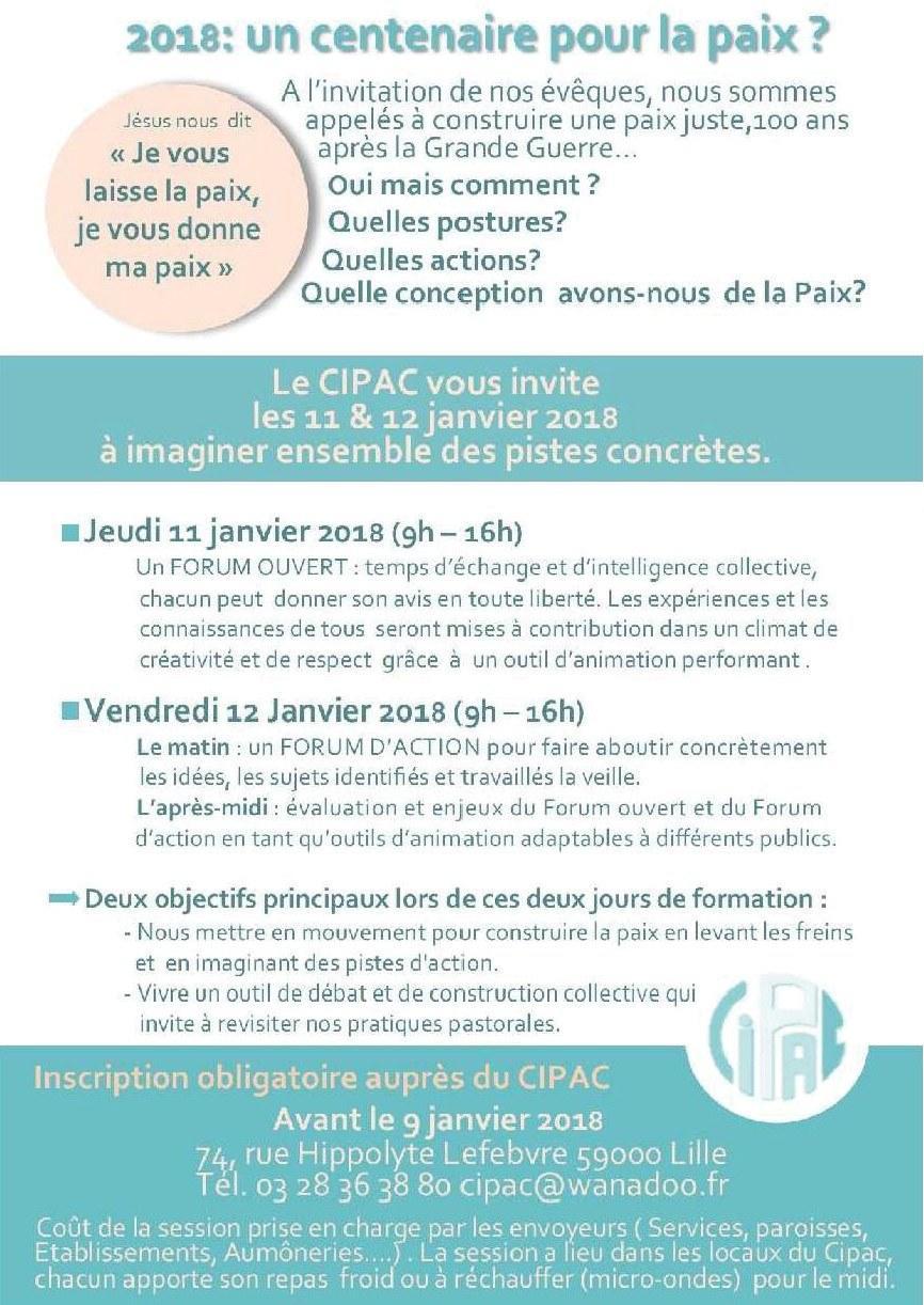 CIPAC session Forum ouvert sur la Paix2
