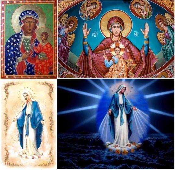 composition de plusieurs saintes vierges