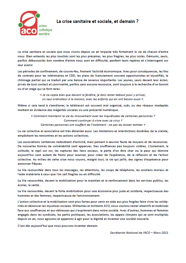 declaration ACO