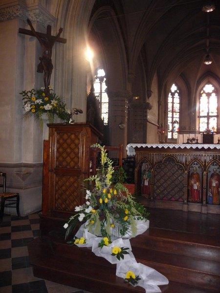Pin d coration florale liturgique on pinterest for Decoration florale