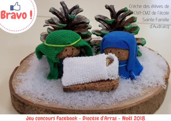 Gagnant concours creche Noel  2018 - ecole Sainte-