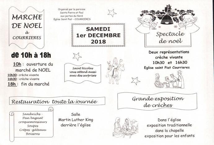 invitation marché de Noël et crèche vivante