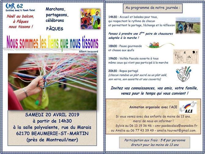 INVITATION marche de Paques