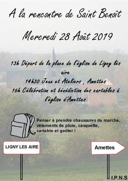 invitation marche saint benoit