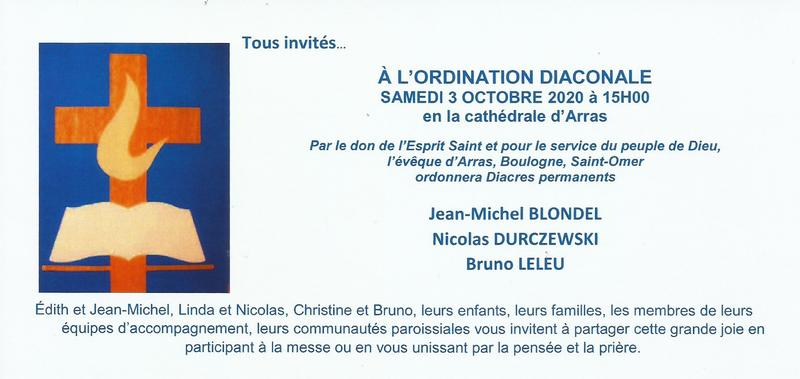 invitation ordination diaconale 2020