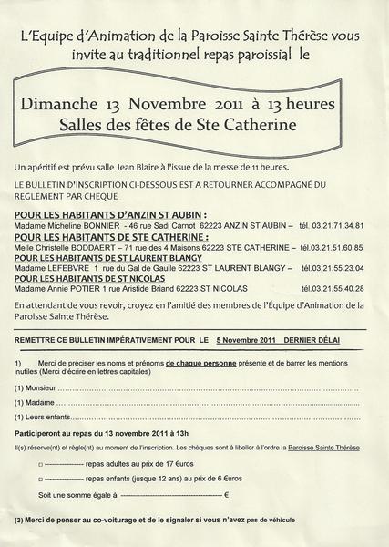 invitation repas paroissial 2011