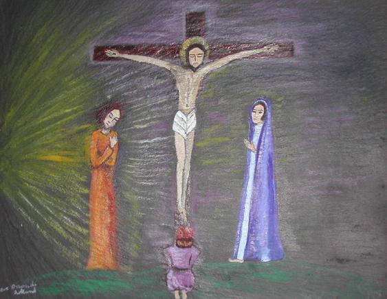 Jésus meurt en croix