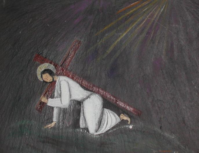 Jésus tombe pour la seconde fois