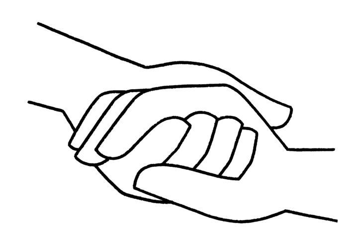 image logo main dans la main