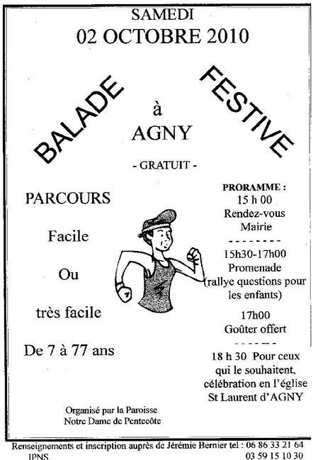 Marche à Agny