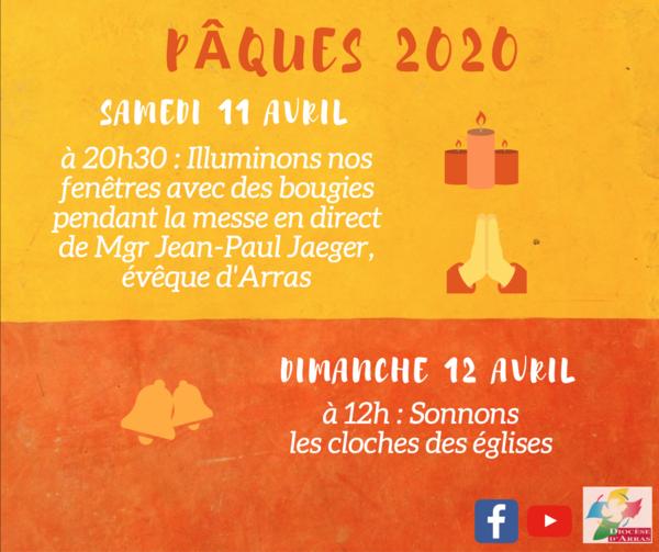 Paques 2020 - Bougies et cloches