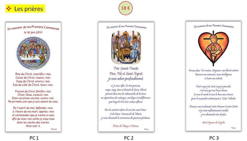 prieres 1ere communion PC1 2 3