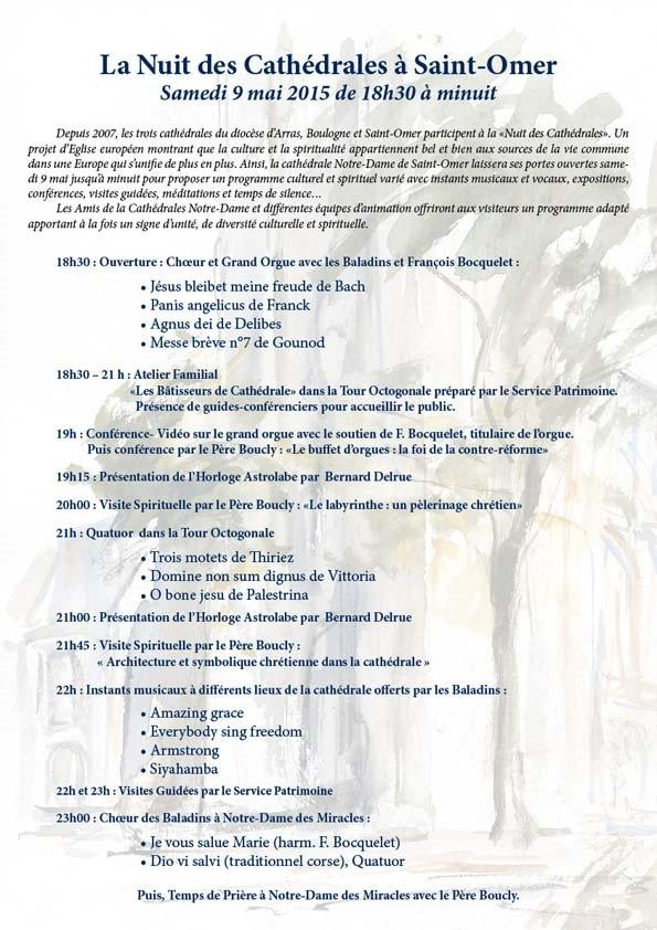 Programme Nuit des cathedrale 2015