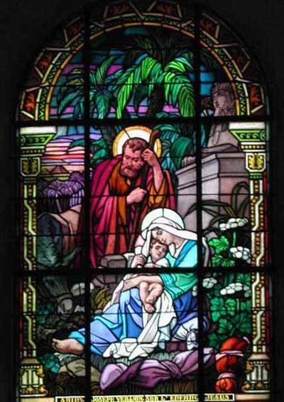Saint Joseph veille sur l'enfant Jésus
