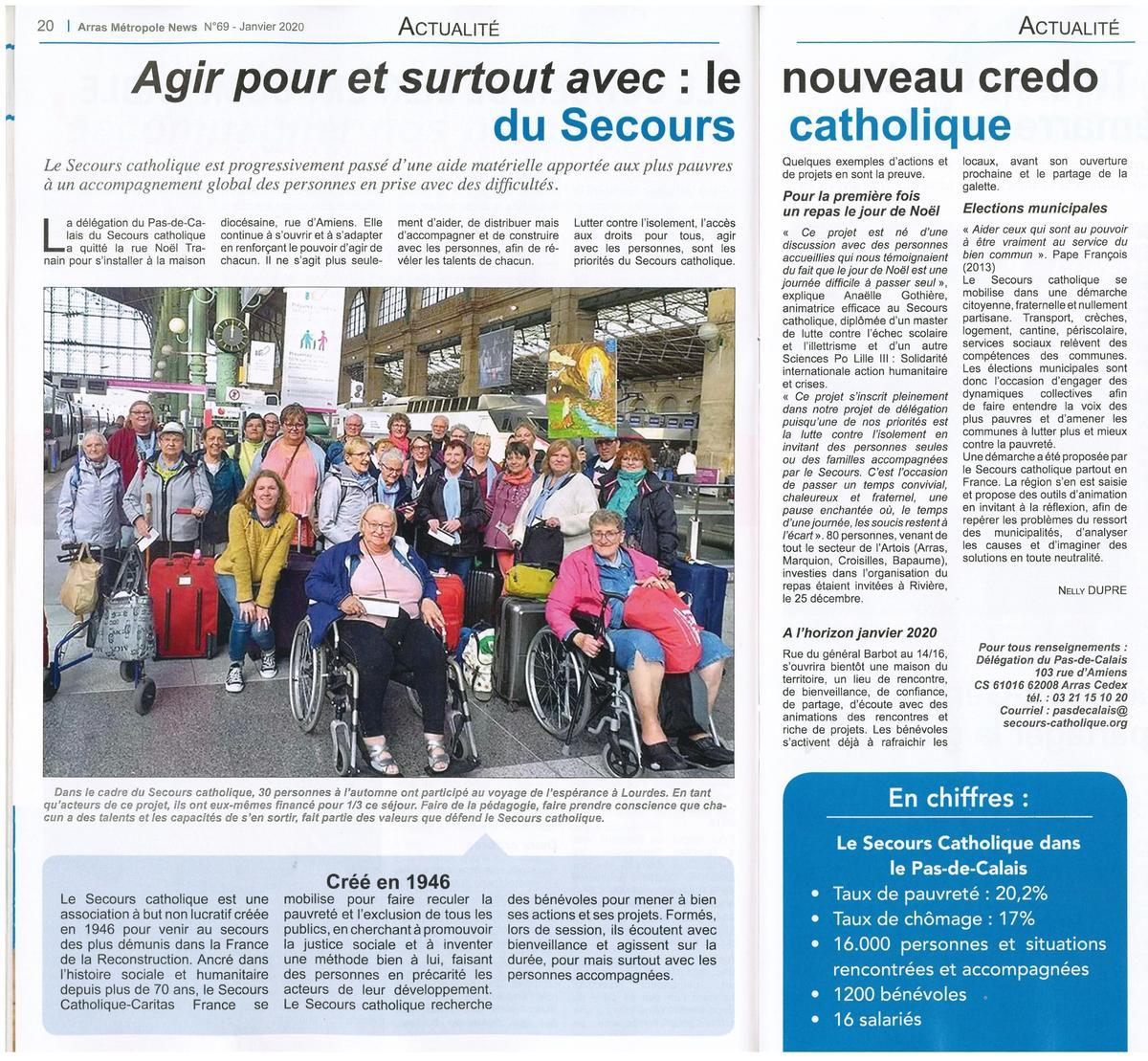 Secours catholique Noel 2019 Arras métropole - janvier 2020