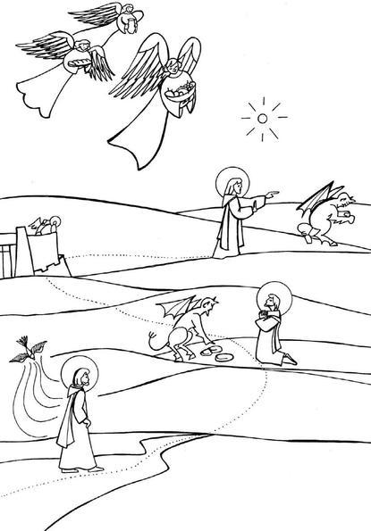 Tentation au désert, Jésus est tenté par Satan