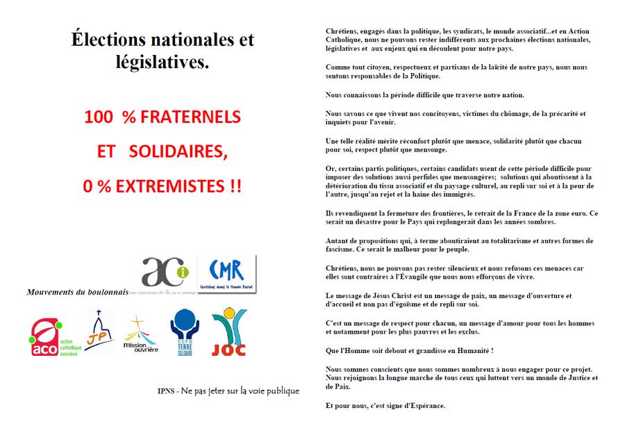 Tract dynamique elections boulonnais