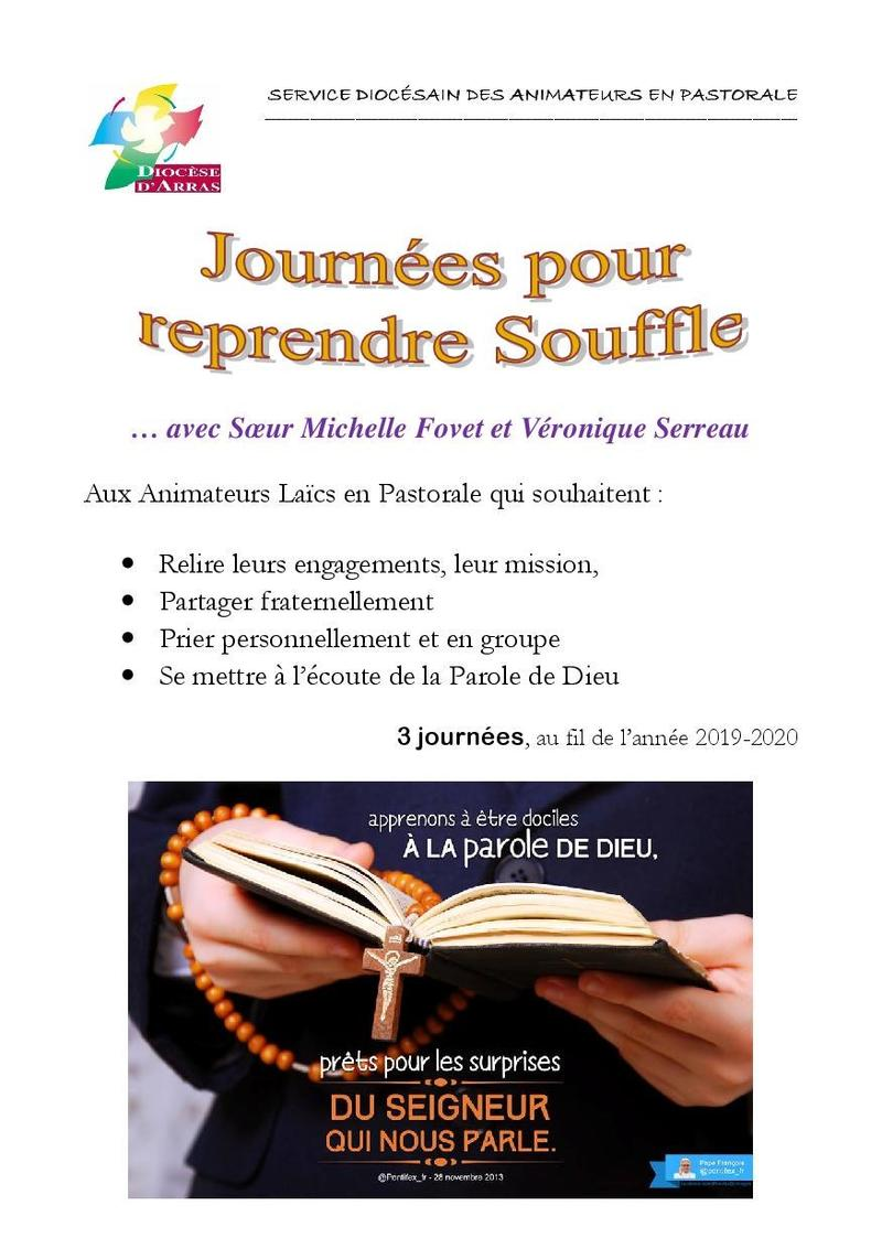 tract journees reprendre Souffle 2019-20201